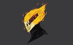 Картинка fire, skull, ghost rider, spirit of vengeance, Marvel comic, Bosslogic