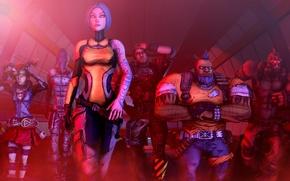 Картинка Maya, Borderlands 2, Zer0, Salvador, Axton, Gaige, Krieg