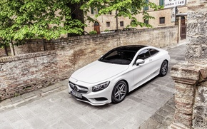 Обои mercedes-benz, s-class, coupe, мерседес, белый