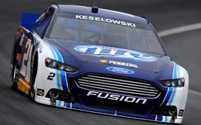 Картинка трасса, Ford, Fusion, посадка, просвет, NASCAR