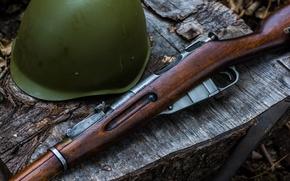 Картинка оружие, винтовка, каска, Мосина
