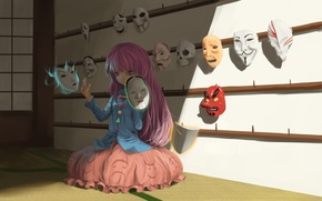 Картинка demon, skull, game, Bleach, devil, anime, pretty, V for Vendetta, asian, Scream, Anonymous, cute, Touhou, …