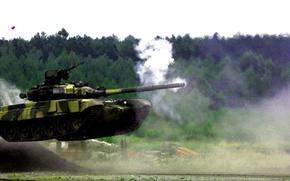 Картинка стрельба, прыжки, T-90МС