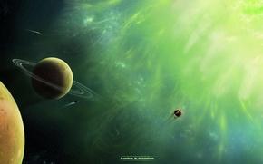 Картинка green, planet, Sci Fi, Supernova