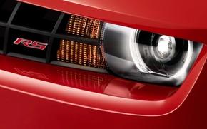Картинка red, chevrolet, headlight
