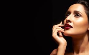 Картинка девушка, актриса, красавица, girl, eyes, smile, beautiful, model, pretty, beauty, lips, face, hair, brunette, pose, …