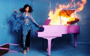 Картинка Alicia Keys, Singer, Burning Piano