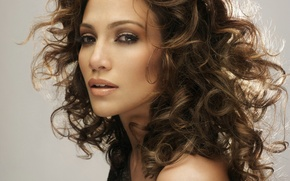Картинка волосы, актриса, певица, Jennifer Lopez, кудри, локоны, дженнифер лопез