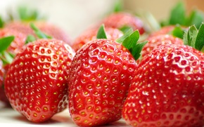 Картинка макро, ягоды, еда, клубника