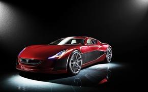 Картинка Concept, Red, One, Rimac