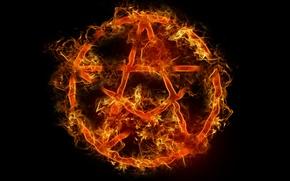 Картинка огонь, символ, fire, пентаграмма