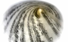 Картинка макро, ноты, музыка, фон