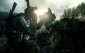 Обои vegetation, game, sniper, Call of Duty, elite force, Call of Duty Ghosts, weapon, gun, pistol, ...