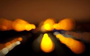 Обои Огни, Ночь, Силуэты