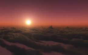 Обои Солнце, звезды, стратосфера