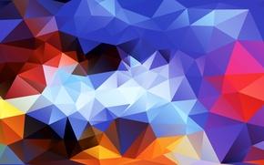 Картинка свет, линии, узор, цвет, объем, грань, треугольник