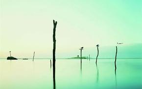 Обои небо, вода, озеро