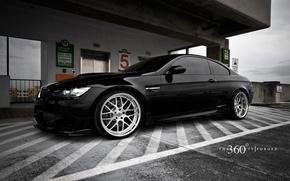 Обои черная, BMW, диски
