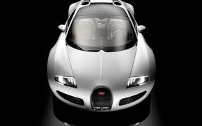 Обои белый, Bugatti, черный
