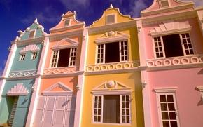 Картинка улица, дома, Аруба, ARUBA, город