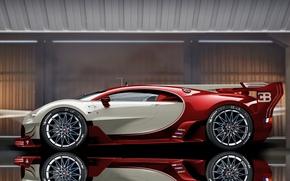 Картинка отражение, Bugatti, Veyron, Bugatti Veyron, гиперкар, sports car, Bugatti Veyron EB 16.4