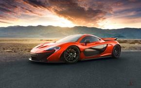 Обои McLaren, Extra, Hypercar, Terrestrial, Valley, Orange, Volcano, Death, Exotic, Front, Supercar, Sand