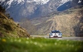 Картинка дорога, трава, горы, гонка, рука, JS2, Ligier