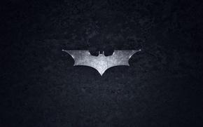 Картинка логотип, серый, Бэтмэн