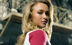 Картинка Взгляд, Блондинка, Hayden Panettiere, Розовый, Кофточка