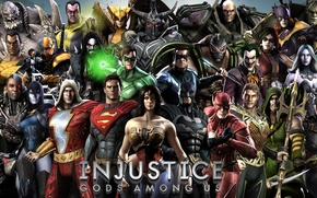 Картинка The Flash, Batman, Superman, Wonder Woman, Deathstroke, Solomon Grundy, Joker, Doomsday, Aquaman, Bane, Nightwing, Ares, ...