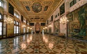 Картинка Мюнхен, Бавария, Münchner Residenz, Kaisersaal, Королевский зал