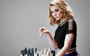 Обои игра, шахматы, Natalie Dormer, Radio Times