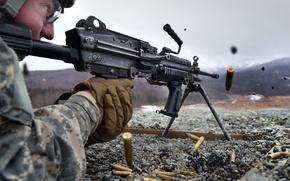 Картинка оружие, солдат, выстрелы