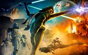 Картинка оружие, арт, звездные войны, битва, StarWars
