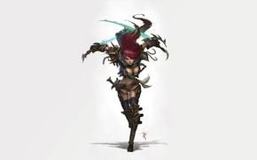 Обои оружие, игра, бежит, League of Legends, Katarina, the Sinister Blade