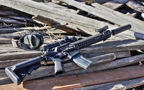 Картинка оружие, наушники, винтовка, снайперская, SPR, MK12