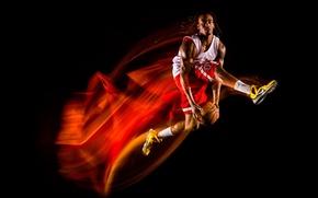 Картинка Basketball, athlete, Trajectories