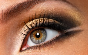 Обои глаз, ресницы, 149, макияж