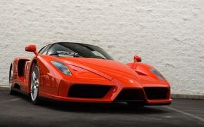 Картинка Ferrari, red, wall, supercar, Enzo