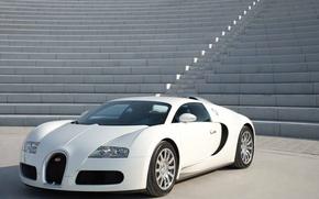 Обои bugatti veyron, суперкар, гиперкар, белый
