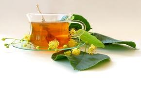 Картинка чай, листики, соцветия