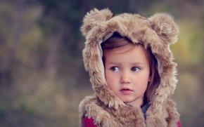 Картинка костюм, девочка, кареглазая, little bear
