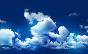 Картинка небо, облака, природа, синева, небеса, nature, небосвод, небосклон, поднебесье