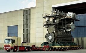 Картинка big, power, truck, ship, Diesel, Engine