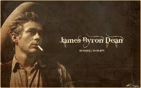Картинка шляпа, сигарета, актер, James Byron Dean