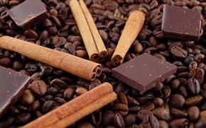 Обои кофе, шоколад, ваниль