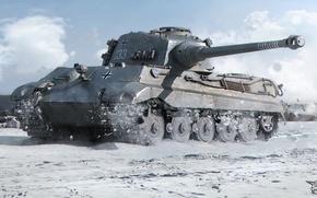 Картинка World of Tanks, Tiger 2, King Tiger, Королевский Тигр, Panzerkampfwagen vi