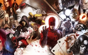 Картинка marvel, daredevil, bullseye, kingpin, iron fist, black tarantula, luke cage