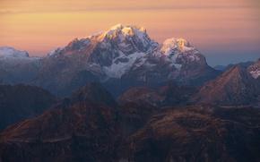 Картинка небо, свет, горы, скалы