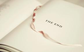 Картинка надпись, лента, книга, The End